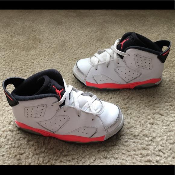timeless design b8fed eca39 Toddler Nike Air Jordan 6 White Infrared 10C